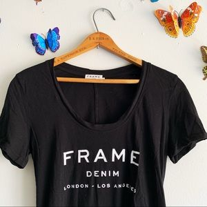 Frame XS Black T-Shirt Top